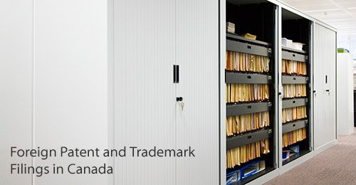 Canada patent and trademark filing
